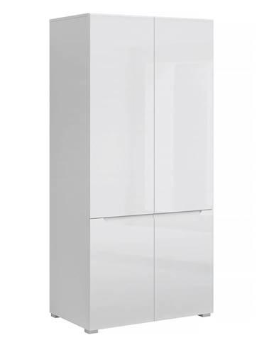 Jolk 4D štvordverová šatníková skriňa biela