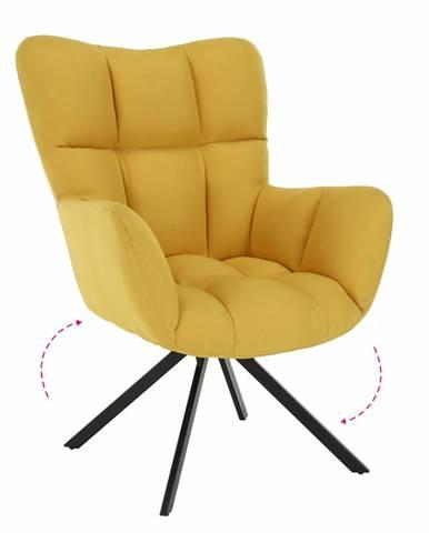 Komodo dizajnové otočné kreslo žltá