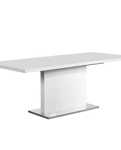 Korintos rozkladací jedálenský stôl biely lesk