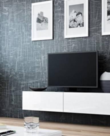 Vigo 140 tv stolík na stenu sivá