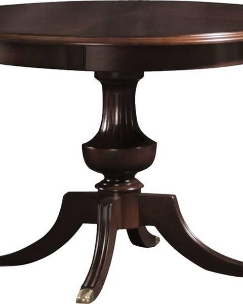 TARANKO Verona V-8 rustikálny okrúhly jedálenský stôl hnedá