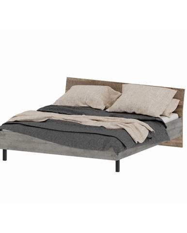 Bova 160 manželská posteľ s roštom pieskový dub