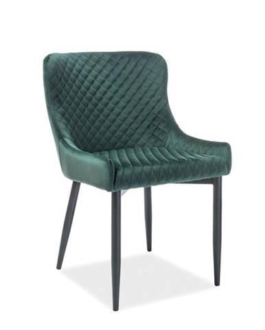 Colin B Velvet jedálenská stolička zelená