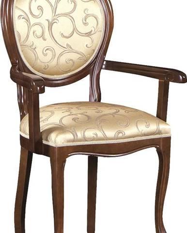 Krzeslo O rustikálne jedálenské kreslo nový orech