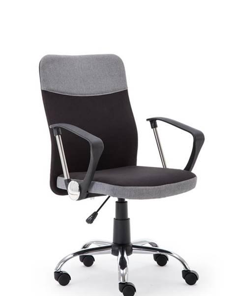 Halmar Topic kancelárska stolička s podrúčkami sivá
