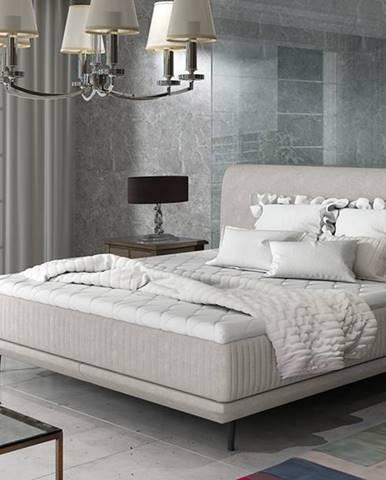 Ancona 140 čalúnená manželská posteľ svetlosivá (Orinoco 21)