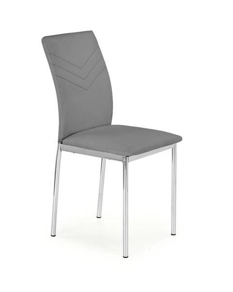 Halmar K137 jedálenská stolička sivá