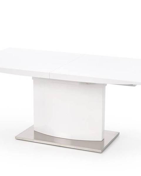 Halmar Marcello rozkladací jedálenský stôl biely lesk