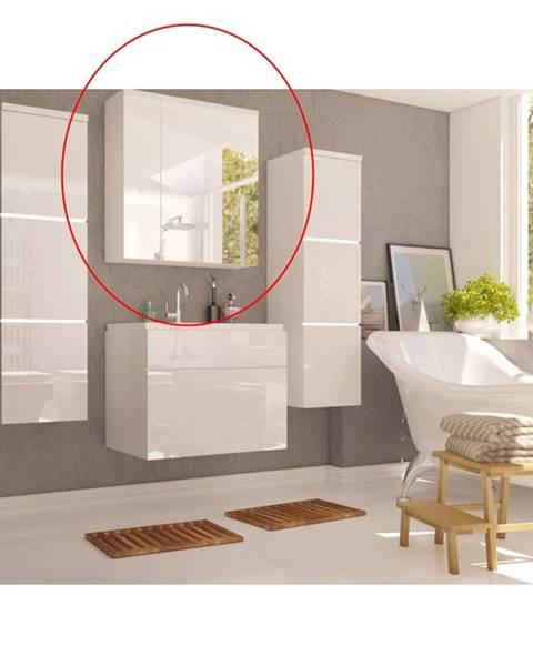 Tempo Kondela Mason WH 14 kúpeľňová skrinka na stenu so zrkadlom biela