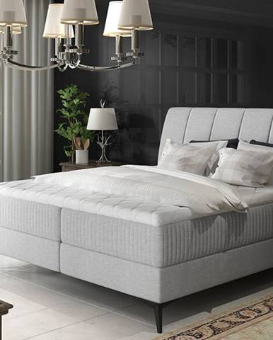 Altama 140 čalúnená manželská posteľ s úložným priestorom svetlosivá (Cover 83)