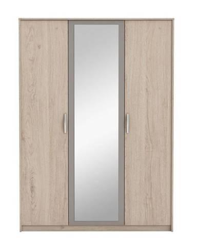 Graphic Typ 1 3D šatníková skriňa so zrkadlom dub arizona