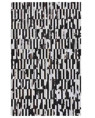 Typ 6 kožený koberec 171x240 cm vzor patchwork