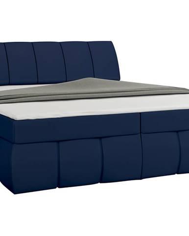 Vareso 160 čalúnená manželská posteľ s úložným priestorom modrá (Soft 09)