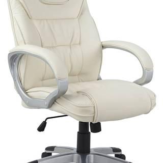 Q-031 kancelárske kreslo s podrúčkami béžová