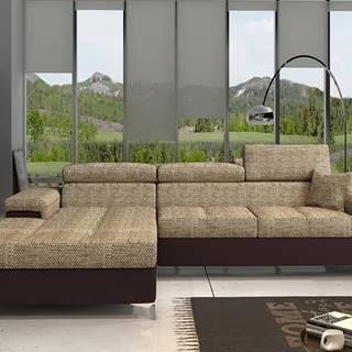 Rosino L rohová sedačka s rozkladom a úložným priestorom cappuccino