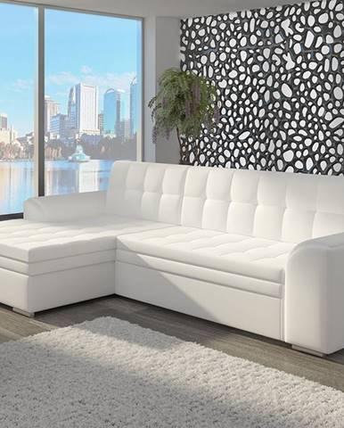 Caltanis L rohová sedačka s rozkladom biela