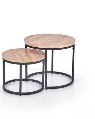 Oreo okrúhly konferenčný stolík (2 ks) dub san remo