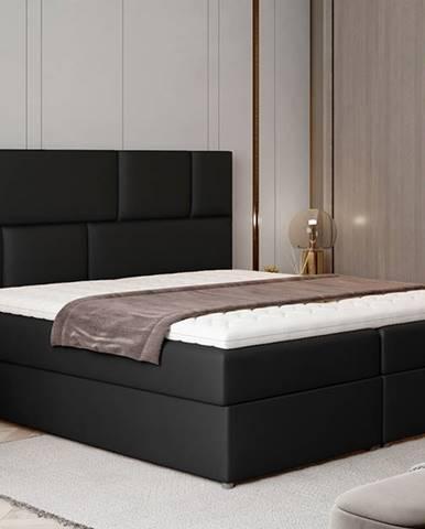 Ferine 185 čalúnená manželská posteľ s úložným priestorom čierna (Soft 11)