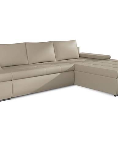 Oristano P rohová sedačka s rozkladom a úložným priestorom béžová