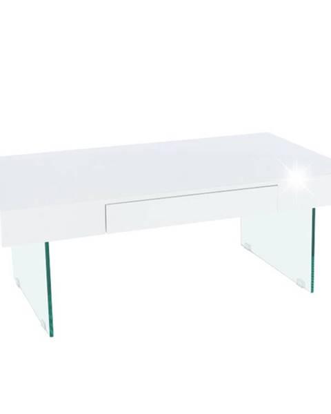 Kondela Daisy 2 New konferenčný stolík biely lesk