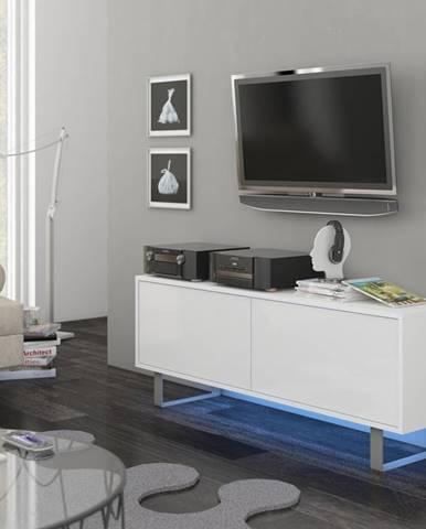 King KIN-01 tv stolík biela