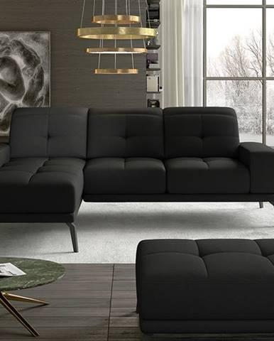 Tirreno L rohová sedačka čierna (Sawana 14)
