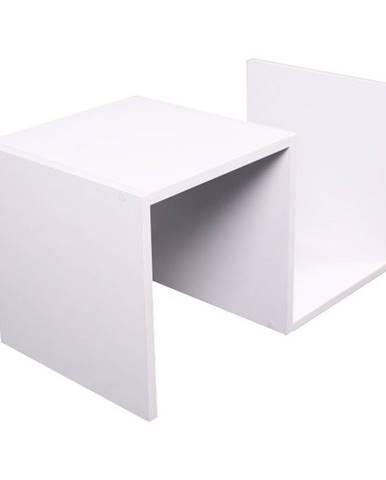 Valmar príručný stolík biela