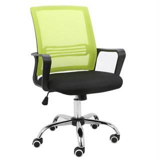 Apolo kancelárska stolička s podrúčkami zelená