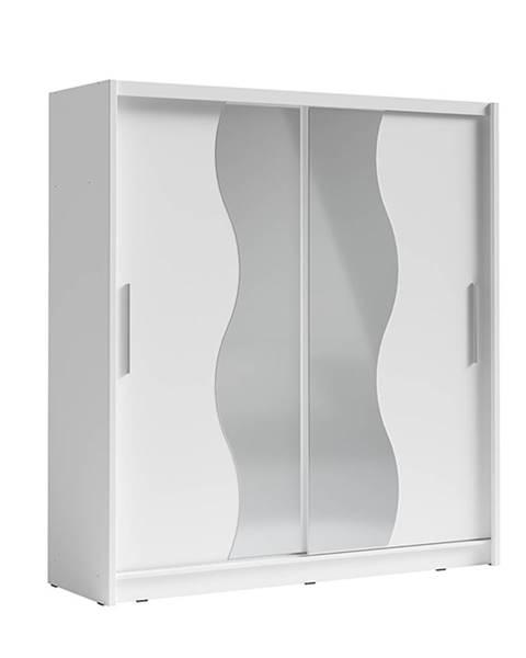 Tempo Kondela Birgamo Typ 1 šatníková skriňa s posuvnými dverami biela