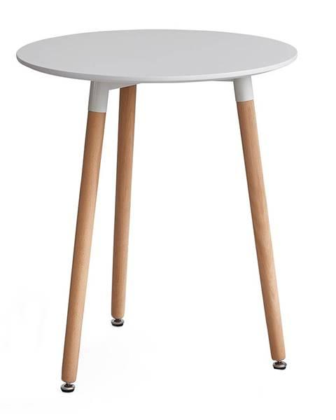 Tempo Kondela Elcan 60 okrúhly jedálenský stôl biela