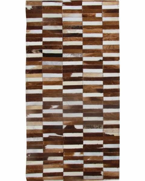 Tempo Kondela Typ 5 kožený koberec 120x180 cm vzor patchwork