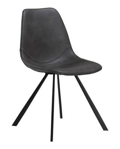 Sivá jedálenská stolička z eko kože DAN–FORM Denmark Pitch