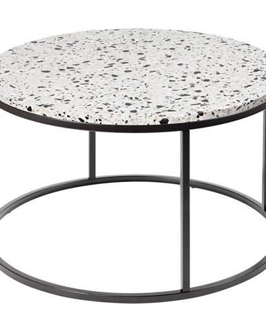 Konferenčný stolík s kamennou doskou RGE Bianco, ø 85 cm