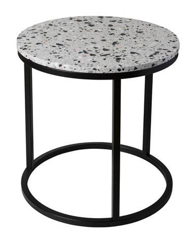Odkladací stolík s kamennou doskou RGE Cosmos, ø 50 cm