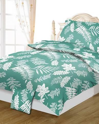 Jahu Bavlnené obliečky Palma green, 140 x 200 cm, 70 x 90 cm, 40 x 40 cm