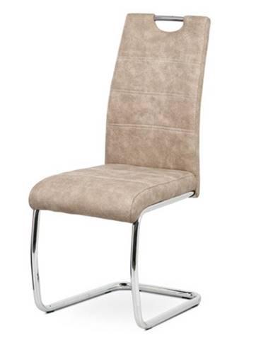 Jedálenská stolička ZOEY krémová/kov