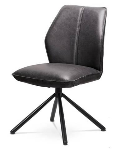 Jedálenská stolička FABIANA sivá/čierna