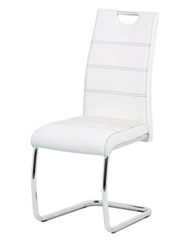 Jedálenská stolička GROTO biela/strieborná