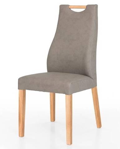 Jedálenská stolička NAILA dub/sivá