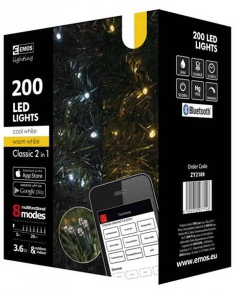 EMOS SMART vianočné osvetlenie Emos ZY2189, biela, vonkajšie, 20 m POU