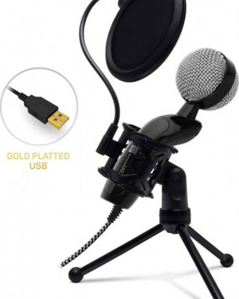 Connect IT Mikrofón Connect IT YouMic CMI-8008-BK Plus, USB a POP filter