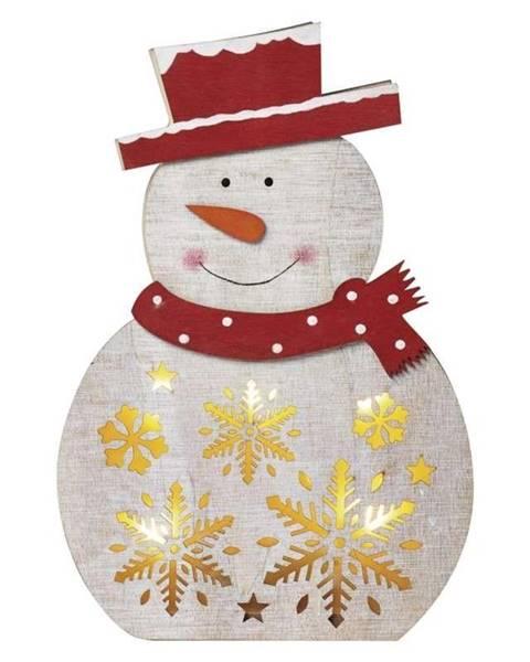 EMOS LED dekorace  Emos vánoční sněhulák dřevěný, 30cm, 2× AAA, teplá