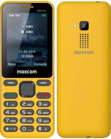 Mobilný telefón MaxCom MM139 žltý