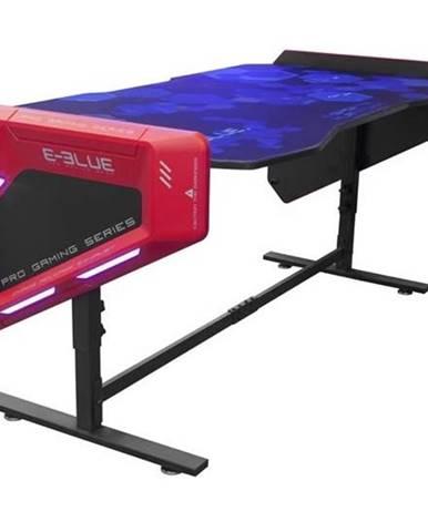 Herný stôl E-Blue 165x88 cm, RGB podsvícení, výškově nastavitelný,