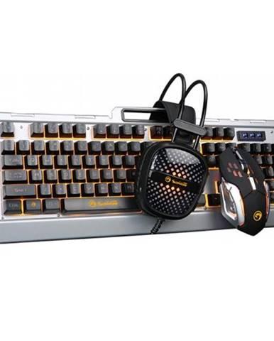 Klávesnica s myšou Marvo CM303, klávesnice, myš, headset, US