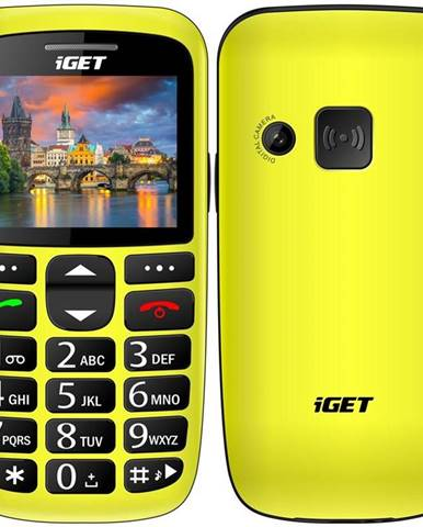 Mobilný telefón iGET Simple D7 Single SIM žltý