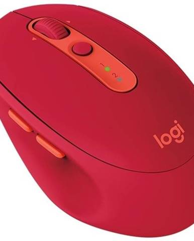 Myš  Logitech M590 Silent červená / optická / 7 tlačítek / 1000dpi