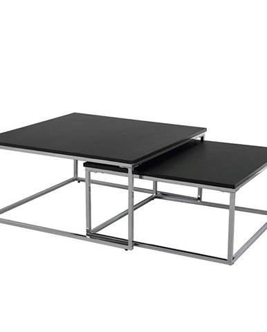 Set dvoch konferenčných stolíkov čierna/chróm AMIAS