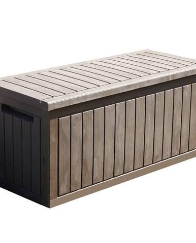 Záhradný úložný box hnedá DAGON