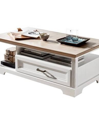 Konferenčný stolík JASMIN pínia svetlá/dub artisan